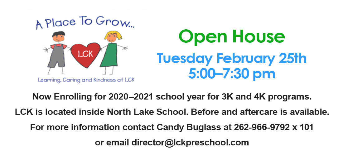Now Enrolling for 2020-2021. Open House Tuesday February 25th 5:00-7:30pm